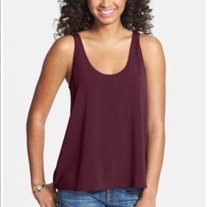 Nordstrom's Maroon frenchi blouse large